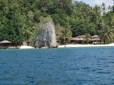 Black Marlin resort, dykresor till Togean Islands, Indonesien